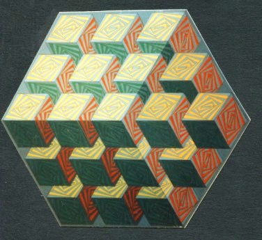 197 - Revolving squares in cubic Nr. I  [70x60]